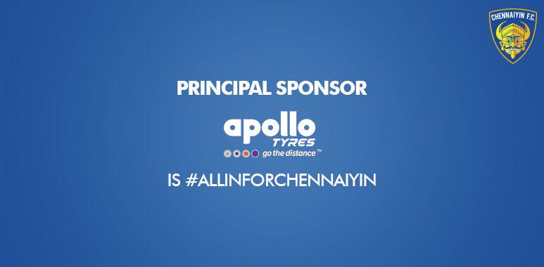 Apollo Tyres renew sponsorship with Chennayin FC as Principal Sponsor