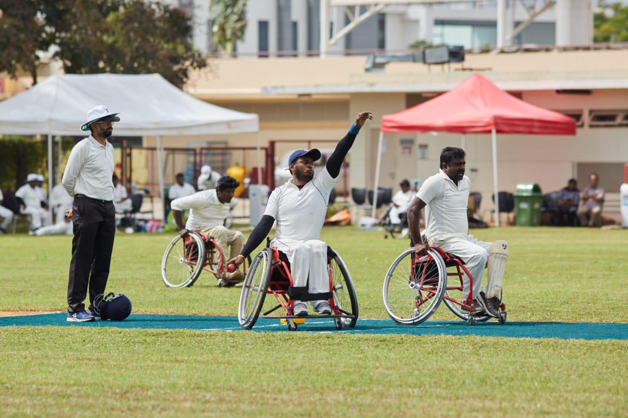 wheelchair test cricket match