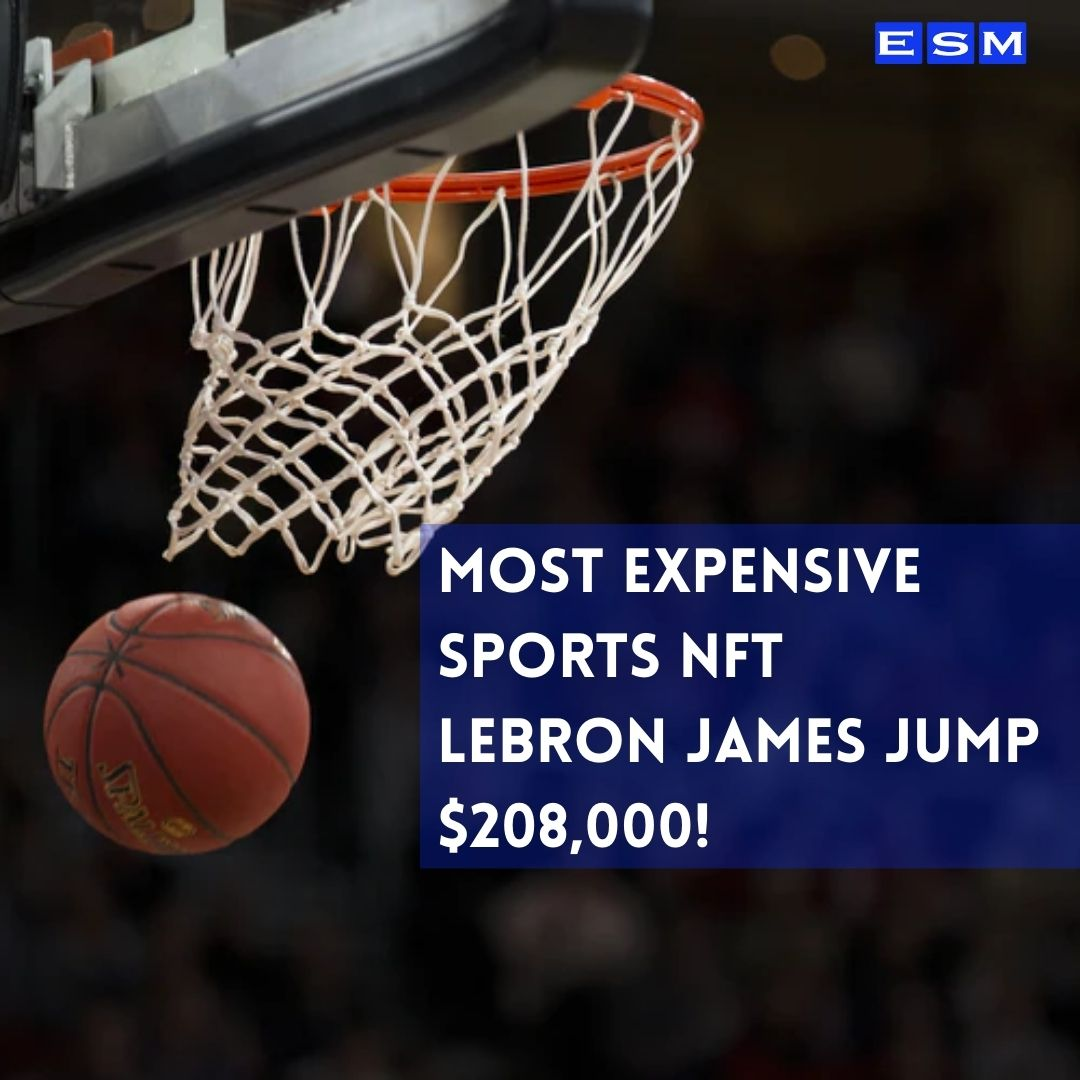 Sports NFT expensive lebron james basketball